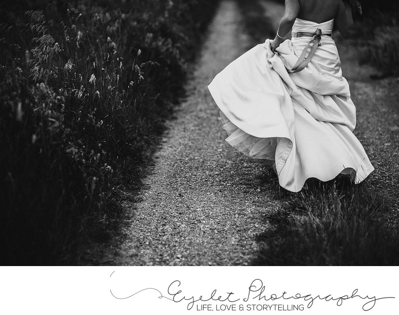 Wedding Photographer Crowsnest Pass Wedding Dress