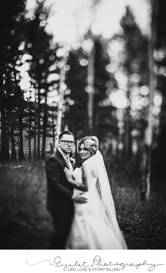 Freelensed Wedding Photography Black and White Portriats