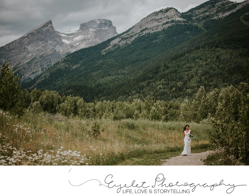 Three Sisters Fernie Wedding Maiden Lake Photographer