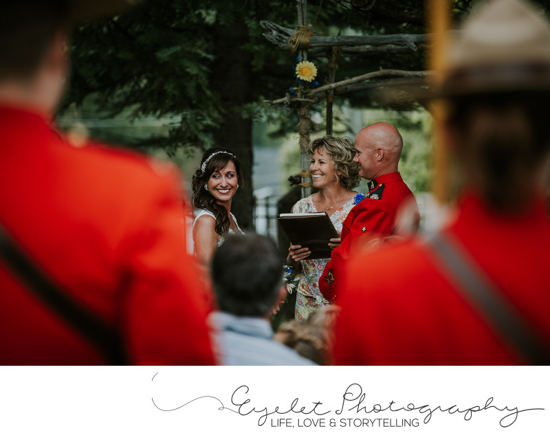 City of Fernie Town Hall RCMP Wedding Photography