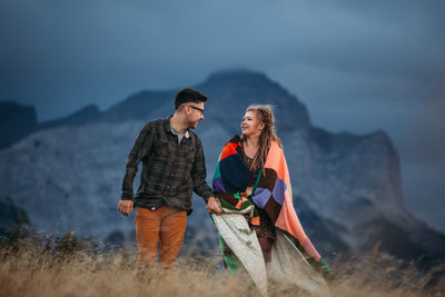 Couple Engagement Photographs Crowsnest Pass AB