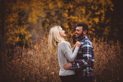 Couple Laughs Engagement Photography