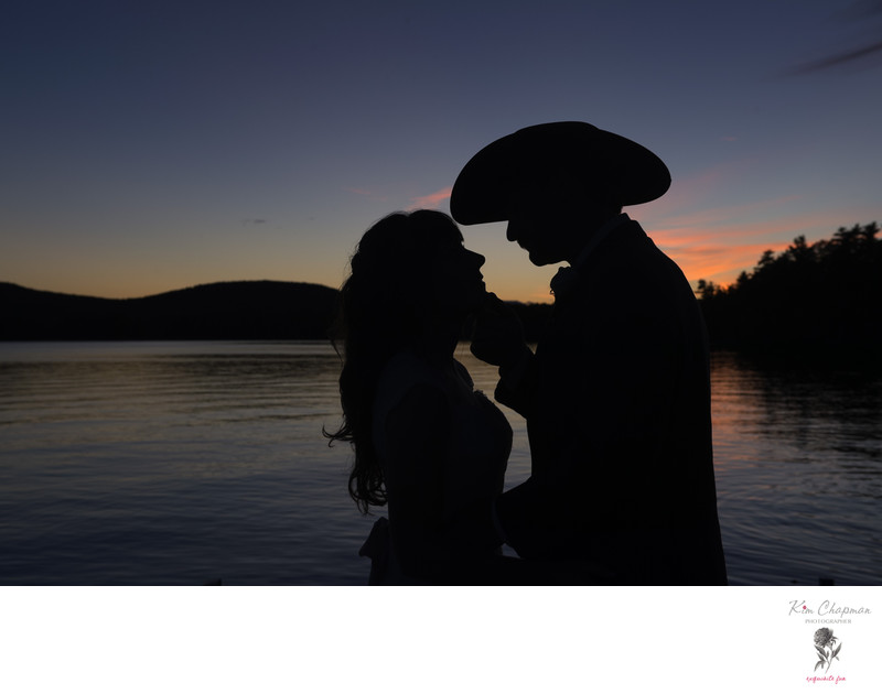 Beautiful Sunset photo taken by Maine Wedding Photographer Kim Chapman