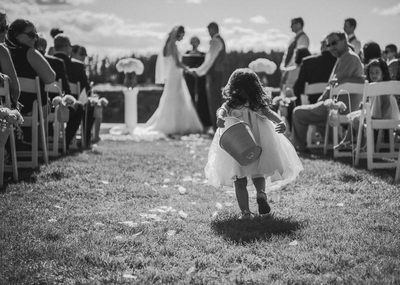 Sebasco Harbor Resort Wedding captures flower girl