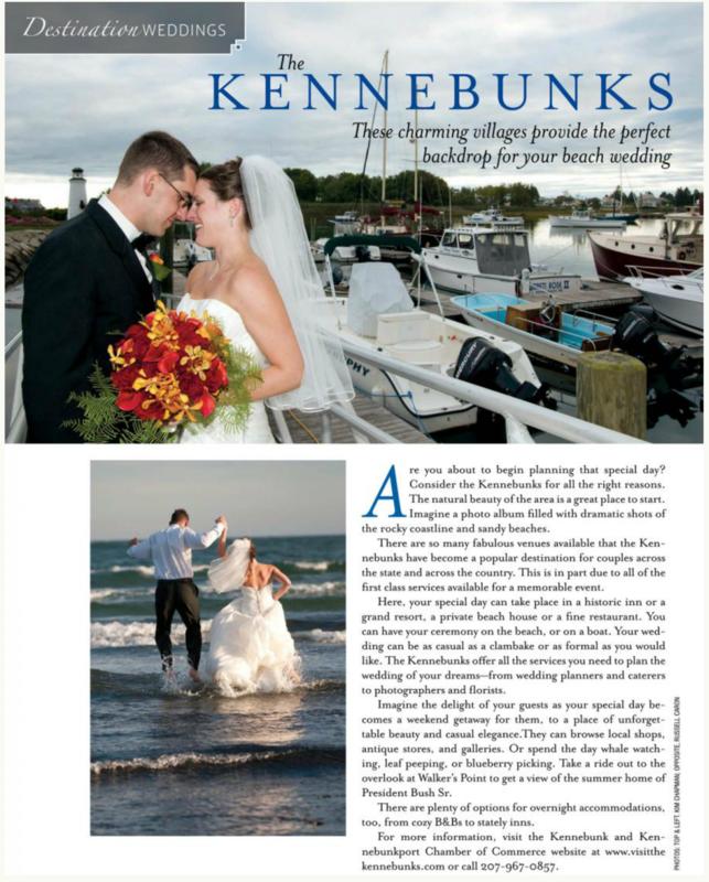 A Real Maine Wedding Magazine Aricle