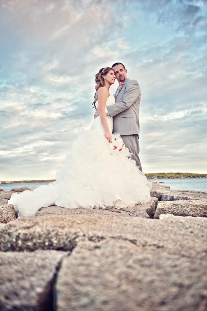 Samoset wedding photographer kim chapman on jetty!