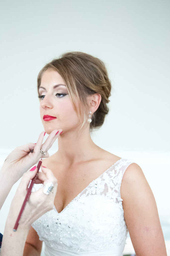 Nonantum Wedding Photographer captures a make up shot!