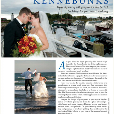 A Real Maine Wedding Magazine Aricle
