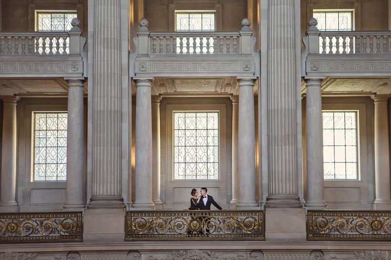 San Francisco City Hall Engagement Photographer