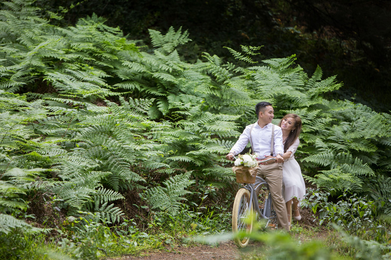 Presidio engagement photography Vintage Bike Picnic