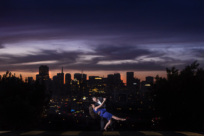 Potrero Hill SF Skyline Photographer Engagement