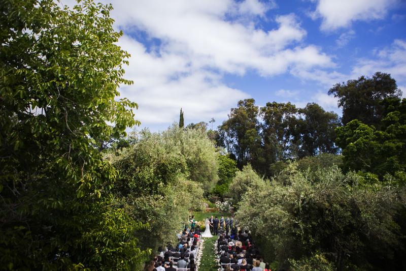 Allied Arts Guild Wedding Ceremony Palo Alto