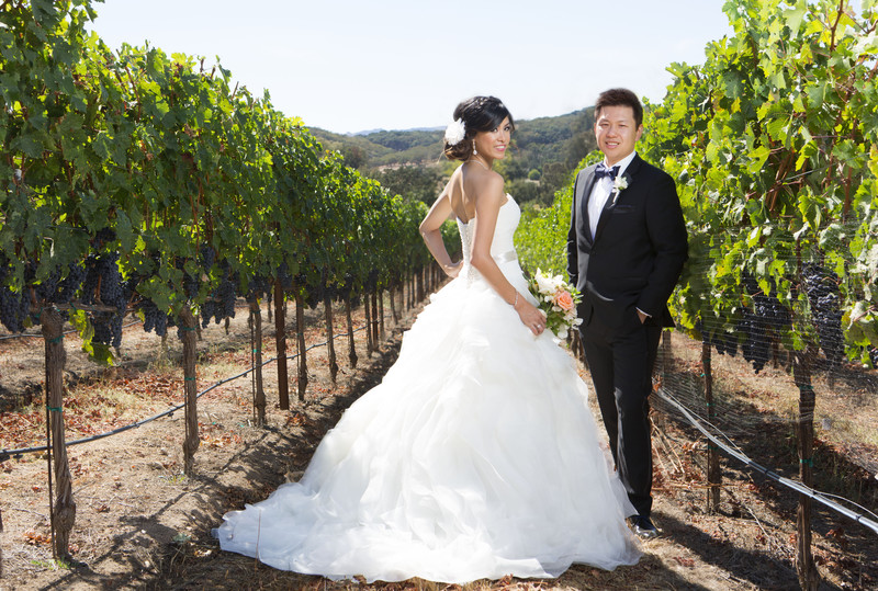 Glamorous Wedding Photograph Winery Napa