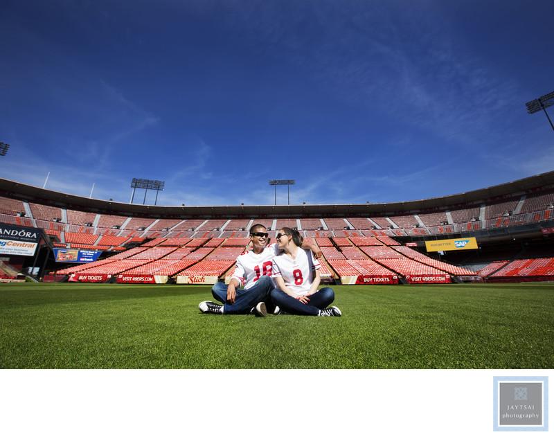 49ers Stadium Engagement Photographer Candlestick