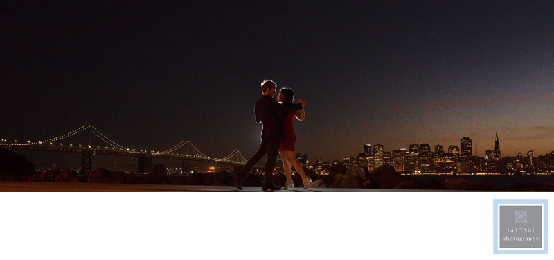San Francisco Skyline Evening Photographer Bay Bridge