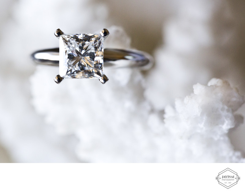 Shimmering Princess Cut Diamond Ring