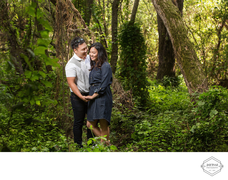 Engagement Portrait in Forest