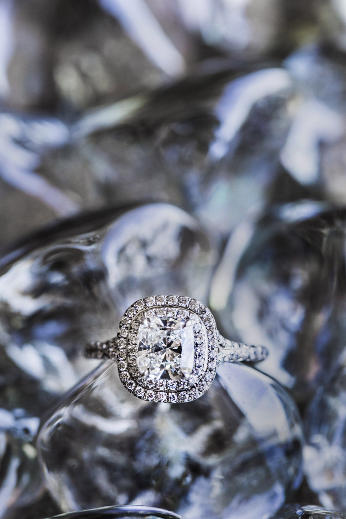 Diamond Engagement Ring on Ice