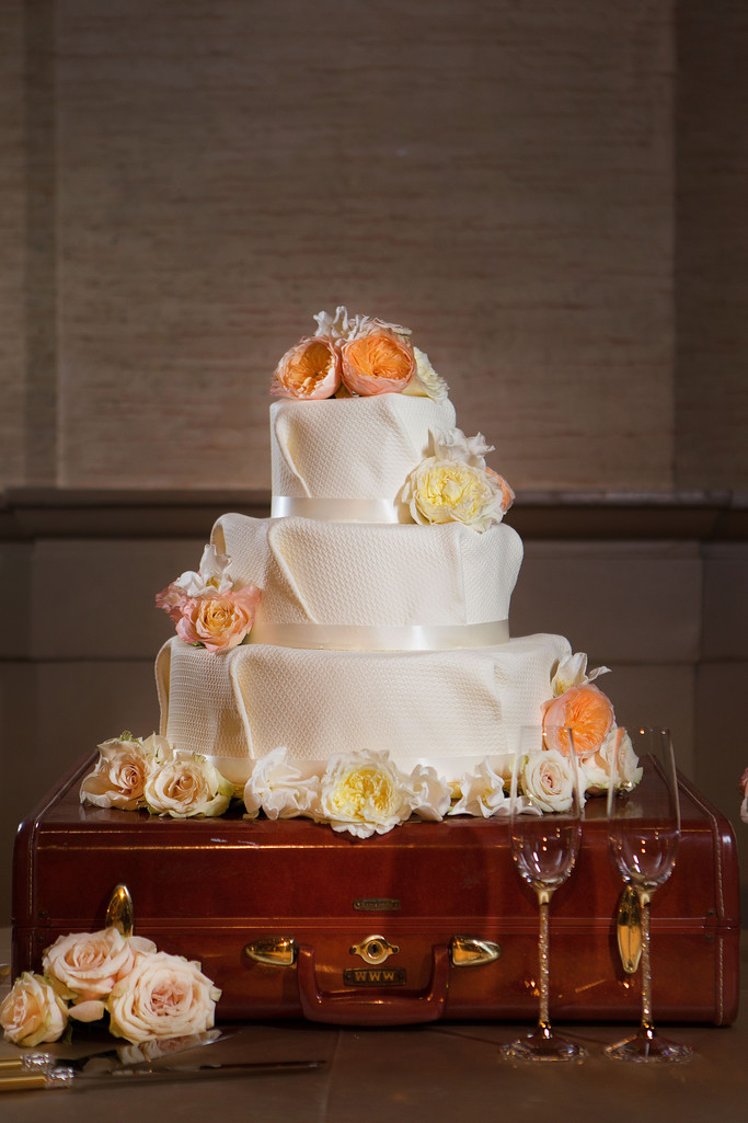 Wedding Cake by the Cakemaker with Folded Fondant