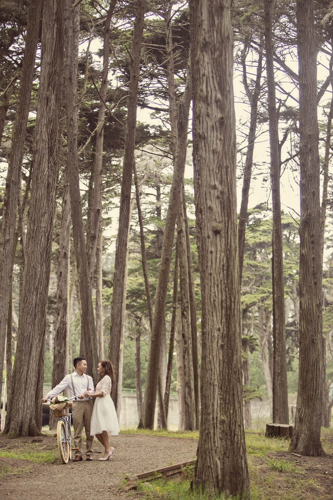 Presidio Engagement Photographer Vintage Picnic
