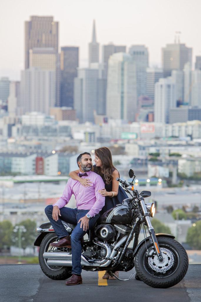 Potrero Hill San Francisco Skyline Engagement Photographer