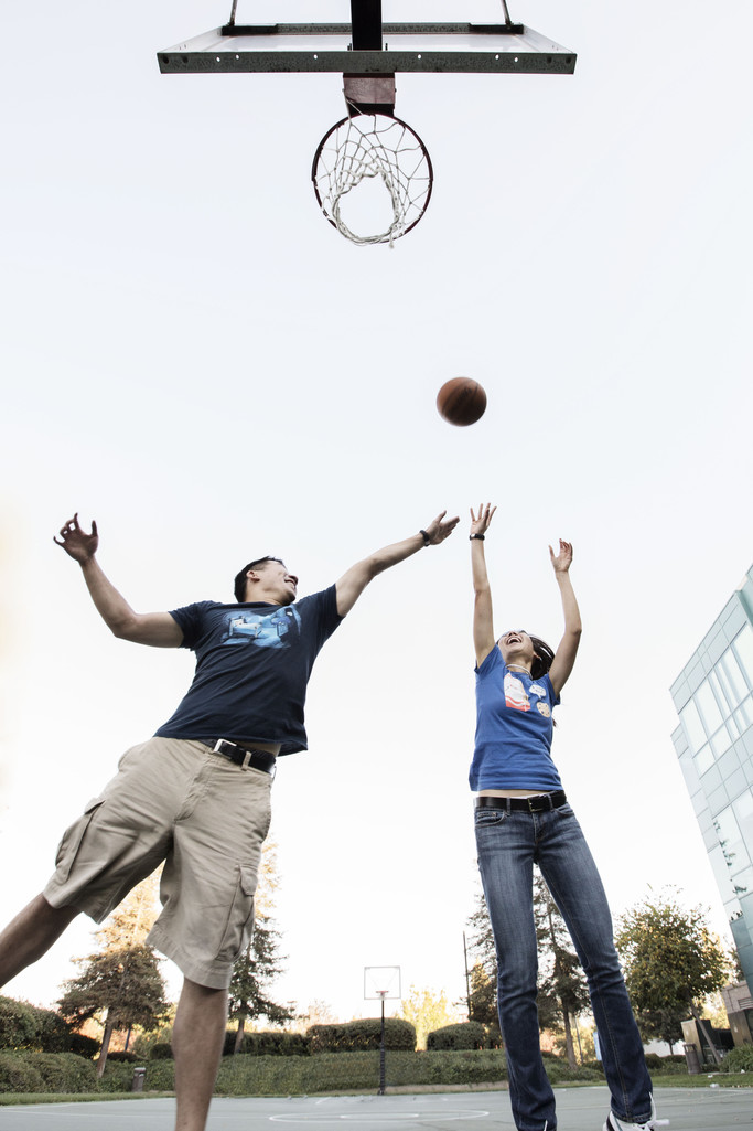 Playing Basketball Sports Engagement Photographer