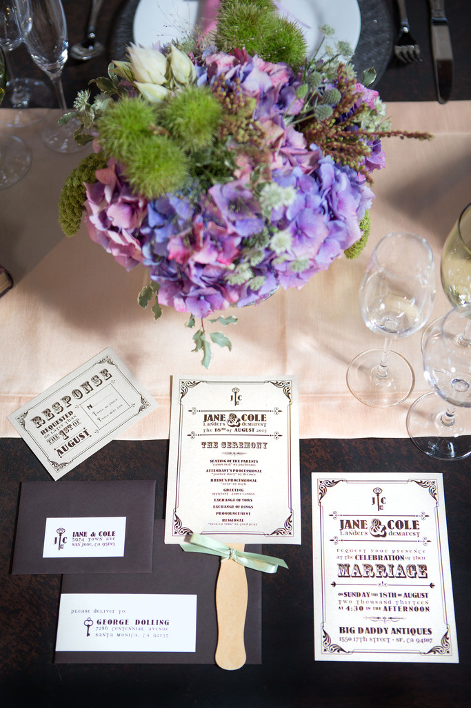 Wedding Stationery and Floral Centerpiece