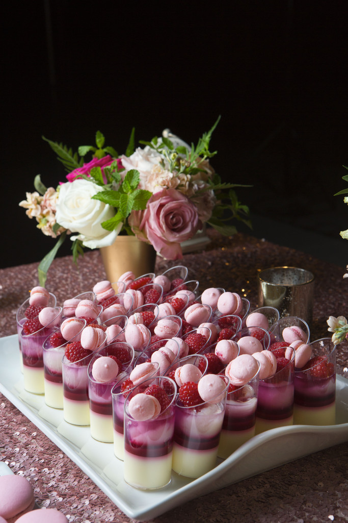 Wedding Dessert Table Macaron Rasberry
