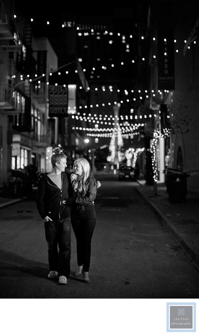 Evening Union Square Photographer Engagement
