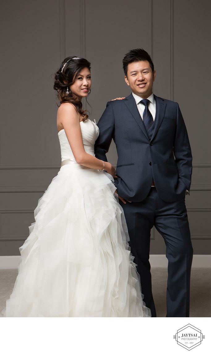 Fashion Wedding Portrait - Bride and Groom