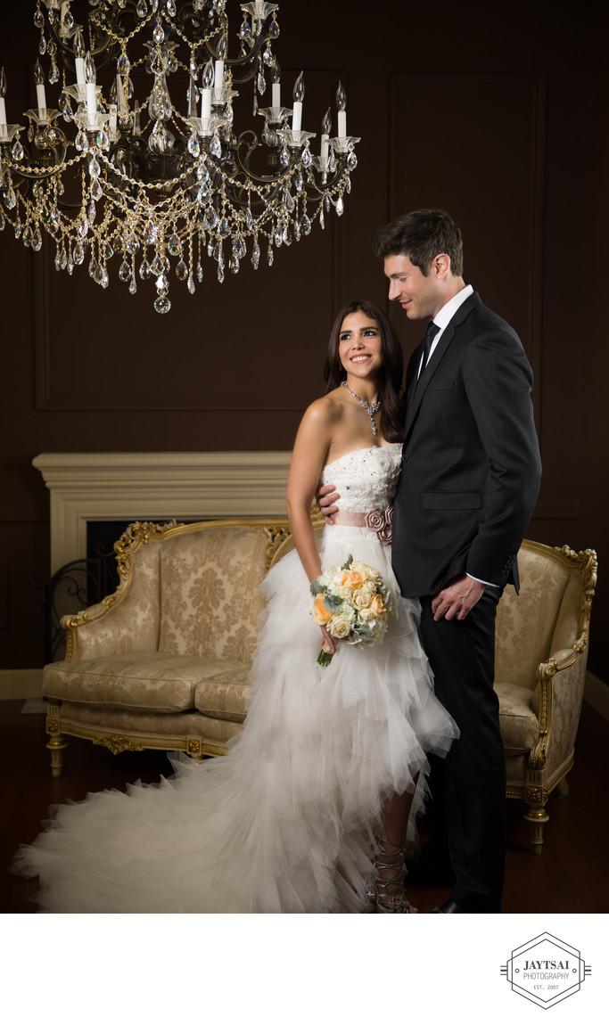 couture wedding couple portraits