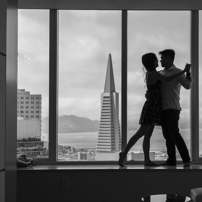 Transamerica North Beach San Francisco Engagement Photo