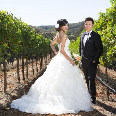 Glamorous Wedding Photograph Winery Napa