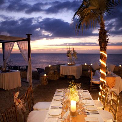 Jamaica Sunset Outdoor Wedding Reception