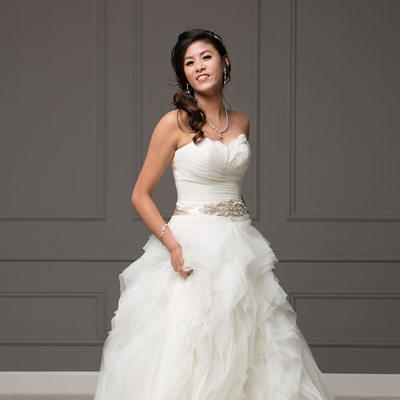 Couture Studio Wedding Portrait - Bride Alone