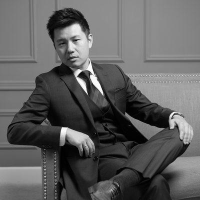 Fashion Studio Wedding Portrait - Groom Alone