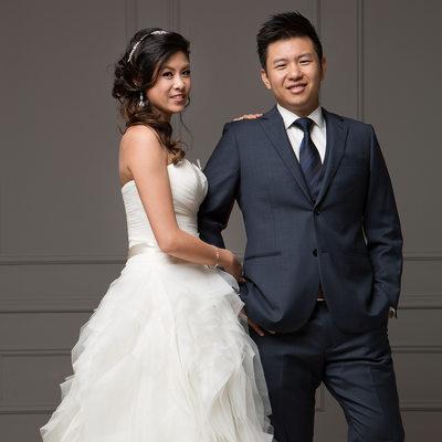 Fashion Wedding Portrait - Bride and Groom