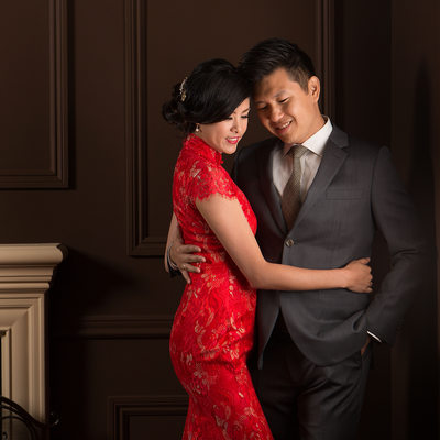 Glamour Wedding Portrait - Bride and Groom