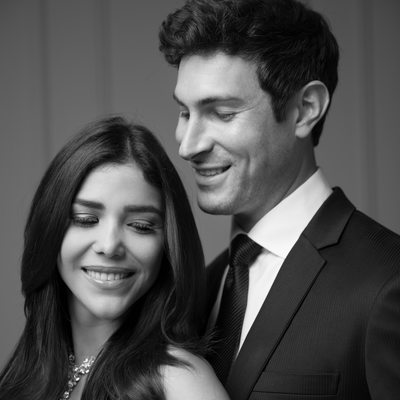Couture wedding couple photography black white