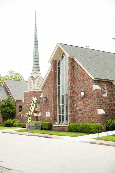 wedding picture of easley first united methodist church