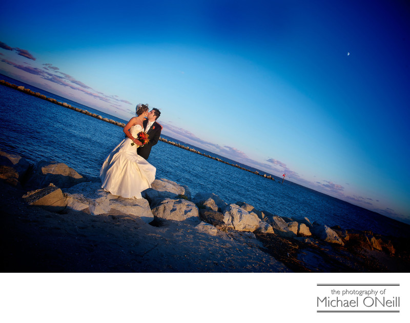 Best Lands End Sayville NY Sunset Wedding Photographer