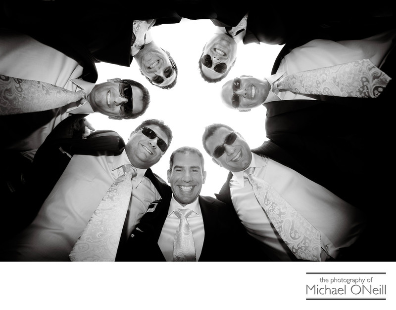 Fun Long Island Wedding Pictures Groomsmen