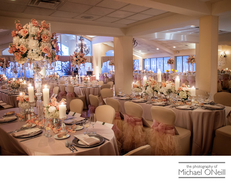 Elegant Wedding Reception Ballroom Flowers