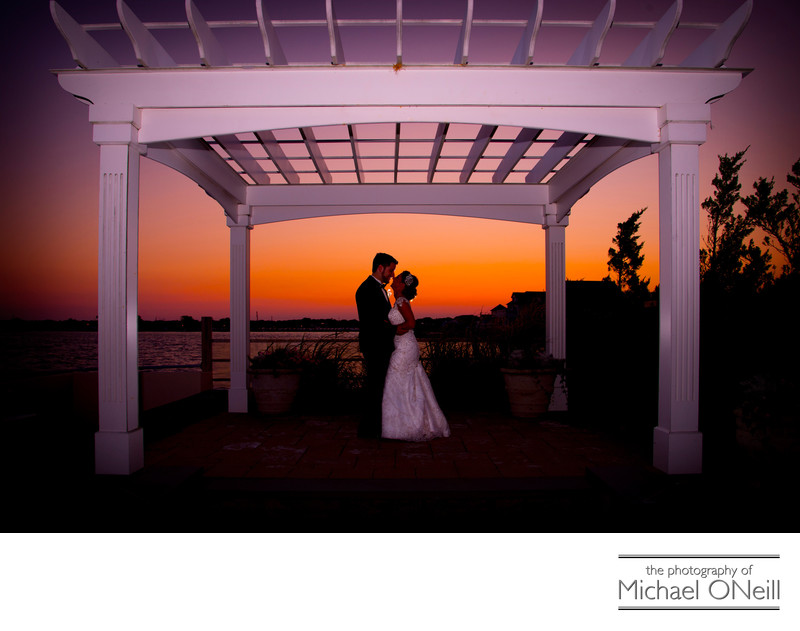 Lombardi's on the Bay Wedding Sunset Picture