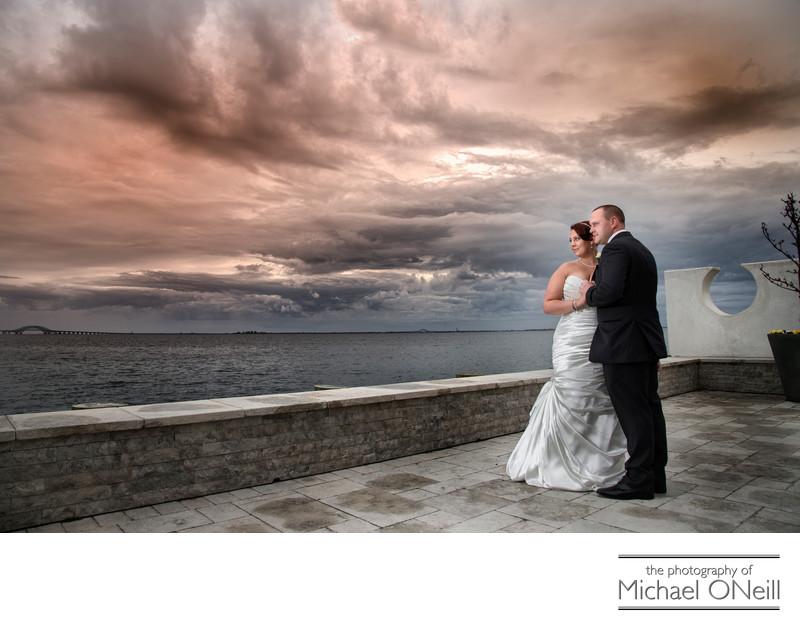 Bad Weather Wedding Photos Venetian Yacht Club