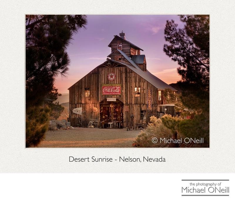 Nelson Nevada Ghost Town Las Vegas Sunrise