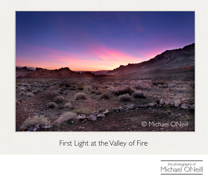 First Light Valley of Fire Nevada Desert