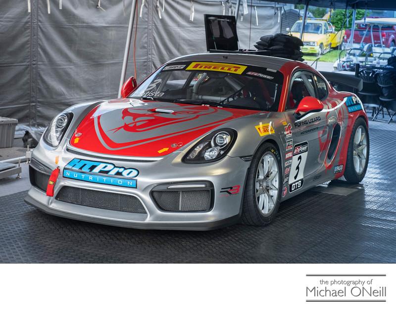 Flying Lizard Motorsports Porsche Cayman PWC Baptista