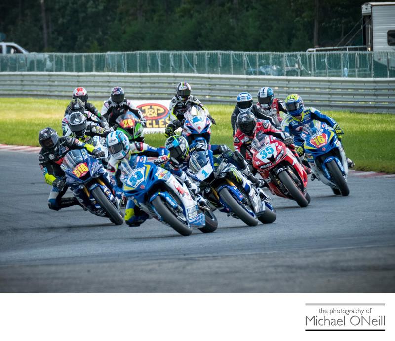 MotoAmerica Supersport Racing NJMP Turn 1 Photography