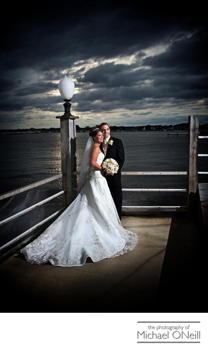 Lombardi's on the Bay Sunset Wedding Photos
